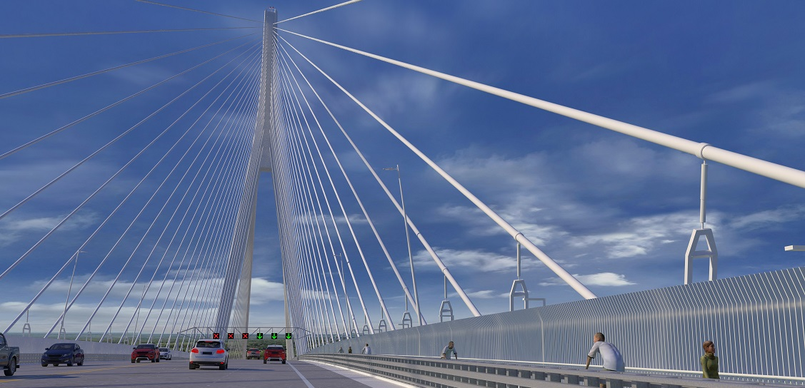 Gordie Howe Bridge is designed by AECOM. Picture: Windsor-Detroit Bridge Authority