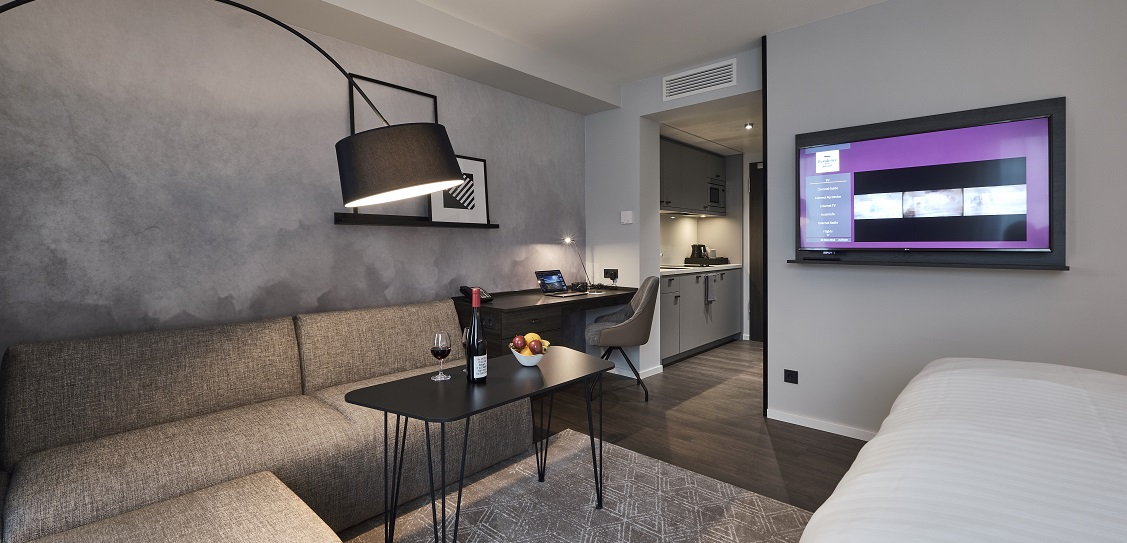 JOI-Design created interiors for Moxy Frankfurt City Center. Picture: Christian Kretschmar for JOI-Design