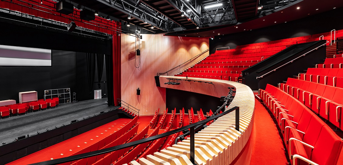 Studio Seilern Architects designed a new performing arts centre at Wellington College in Berkshire. Picture: Kanipak Photography