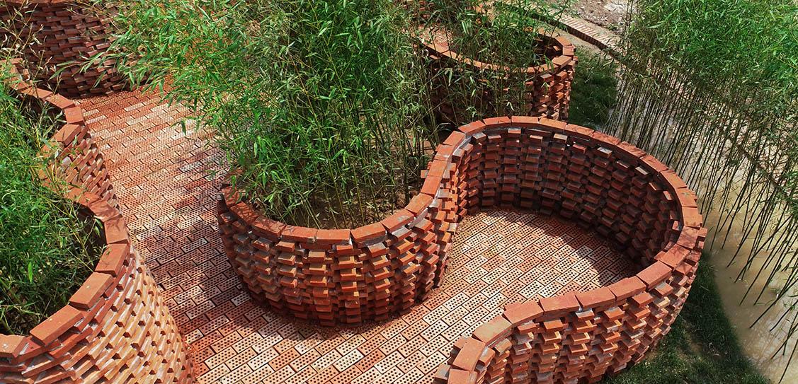 Brick Labyrinth Garden - XWG Arch-Studio