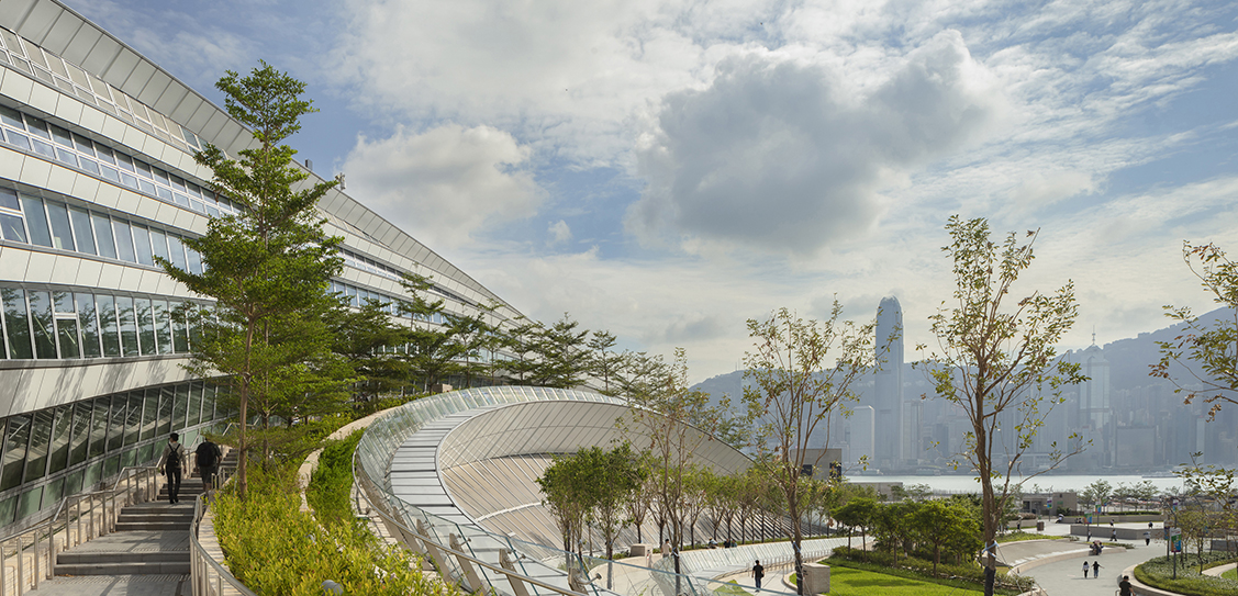 Hong Kong West Kowloon Station designed by Andrew Bromberg at Aedas (Photos: Paul Warchol)