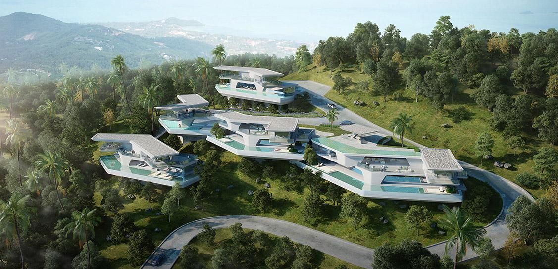 Thailand Samui Butterfly Villa - GWP Architects
