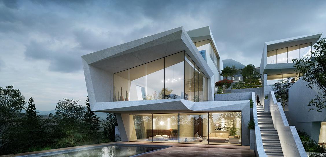 XiaoZhou Mountain Cliff Hotel - GWP Architects