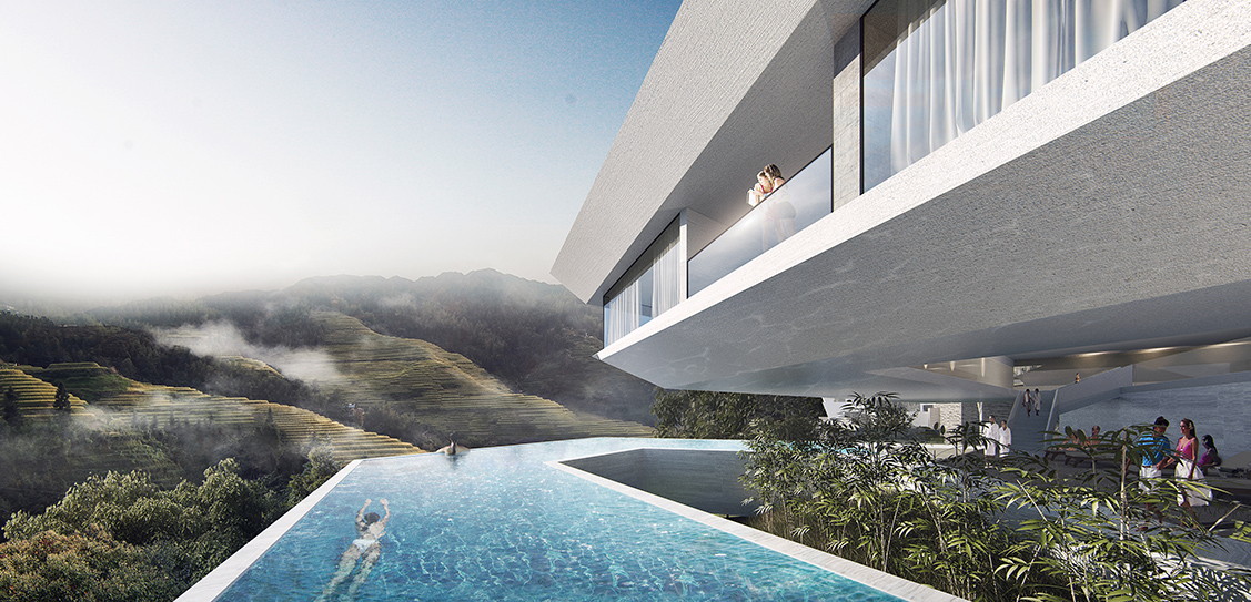 Cliff Hotel of XiaoZhou Mountain - GWP Architects