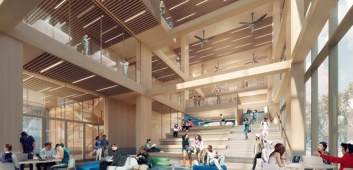 'The Arbour' - George Brown College Tall Wood Building - Moriyama & Teshima Architects and Acton Ostry Architects Inc.