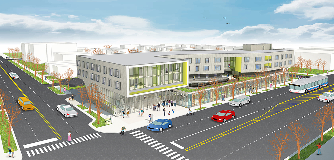 Northtown Library and Affordable Housing - Perkins+Will