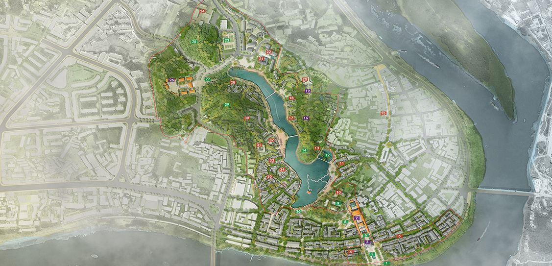 Planning and Design for Promotion and Renaissance of the Confucius Temple-West Lake Cultural and Natural Heritage Zone in Fushun County - Urban Design