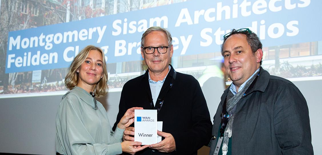 The Education Gold award goes to Montgomery Sisam Architects + Feilden Clegg Bradley Studios, for their University of Toronto Myhal Centre for Engineering Innovation & Entrepreneurship project