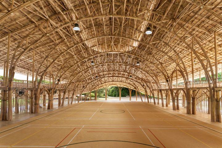 Bamboo Sports Hall, Panyaden International School, by Chiangmai Life Architects