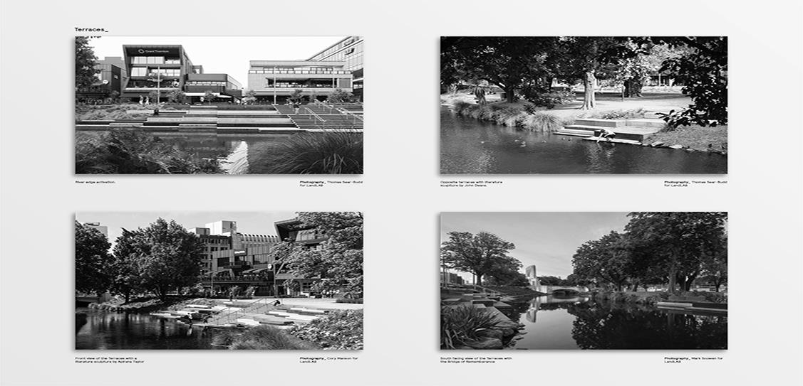 Avon River Park Terraces + City Promenade- LandLAB