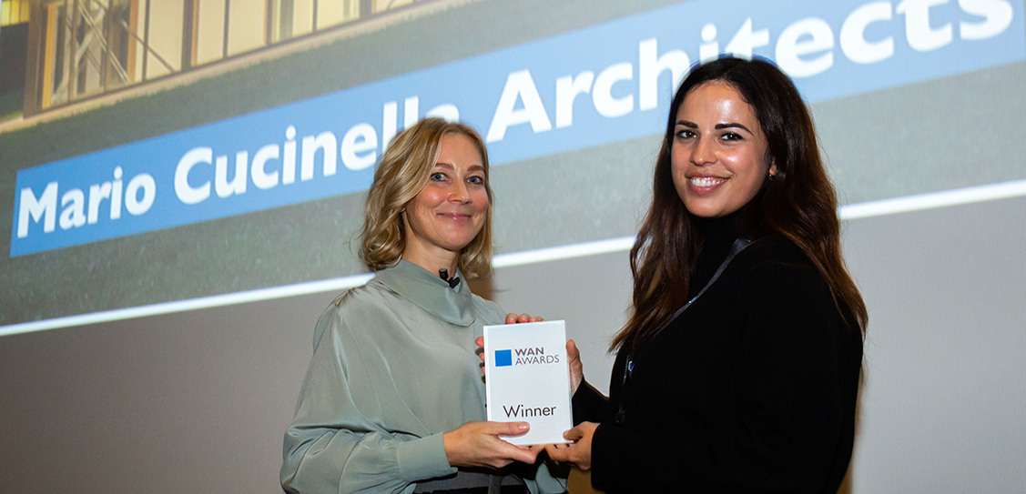 Taking the Gold Award for the Civic category is Mario Cucinella Architects for ARPAE Headquarter for the Regional Agency for Prevention, Environment and Energy