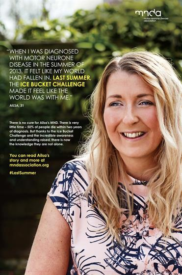 The Motor Neurone Disease Association's 'Last Summer' poster campaign follows last year's Ice Bucket Challenge success.