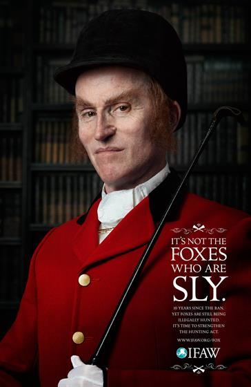 IFAW campaign uses vulpine hunters raise awareness of illegal fox-hunting