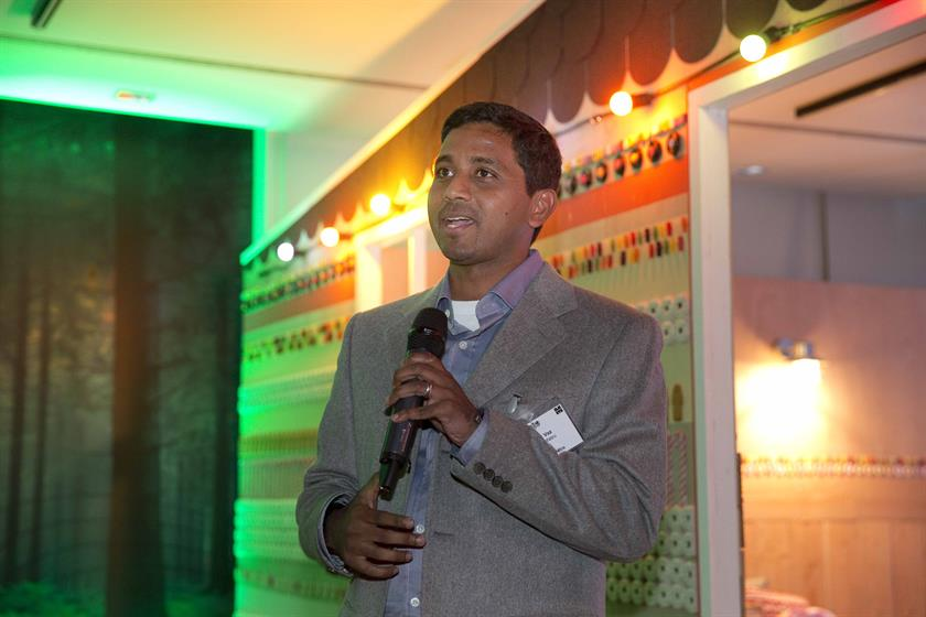 Nigel Vaz, senior vice president, managing director Europe, Sapient Nitro delivers his congratulations to the winners