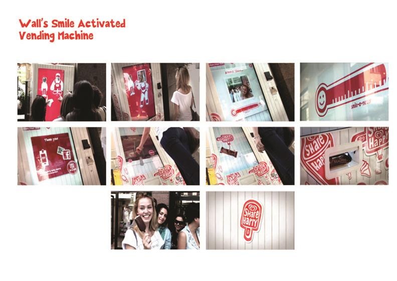 Wall's Ice Cream 'Smile Activated Vending Machine' by SapientNitro