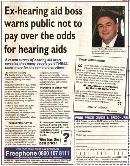 hearing aid for sensorineural hearing loss