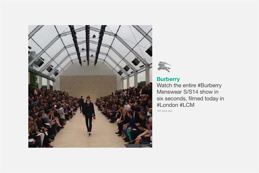 1. Burberry on Vine