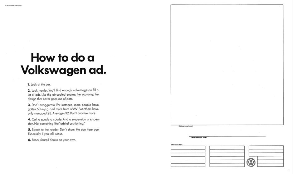 2 'How to do a Volkswagen ad' (1963)