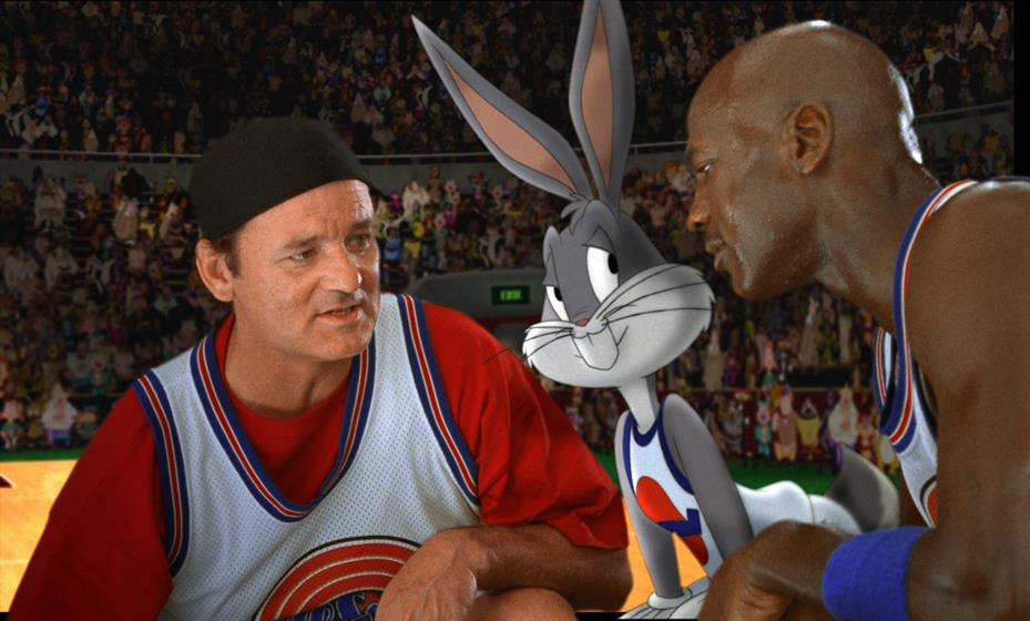 Space Jam, which starred Bill Murray, Jordan and Looney Tunes characters