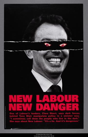 The Conservatives' 'New Labour, new danger' (1997) by