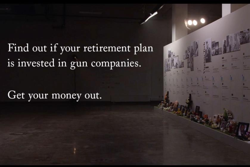 Grey New York's 'unload your 401k' for States United to Prevent Gun Violence