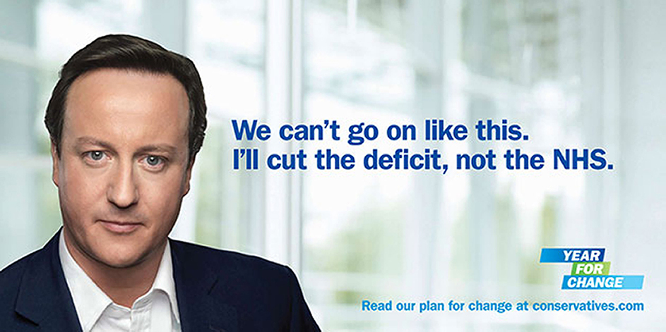 The much-mocked 2010 campaign poster, by Euro RSCG,  that led to the Conservatives appointing M&C Saatchi