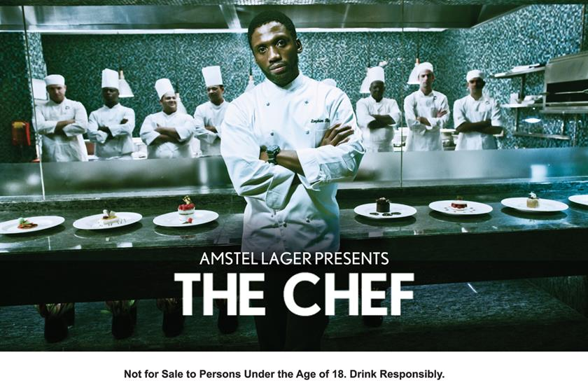 Amstel: the lager brand's TV campaign 'the chef' was created by the South African agency OwenKessel