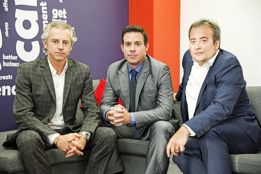 Havas Media leaders: (from left) Craze, Frampton and Avery