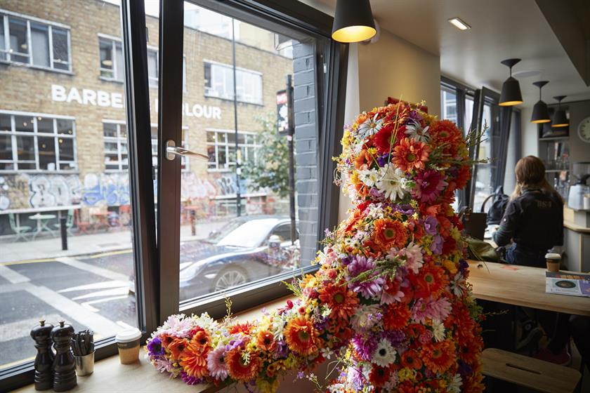 EasyJet's flowerman experiences the joys of Shoreditch....