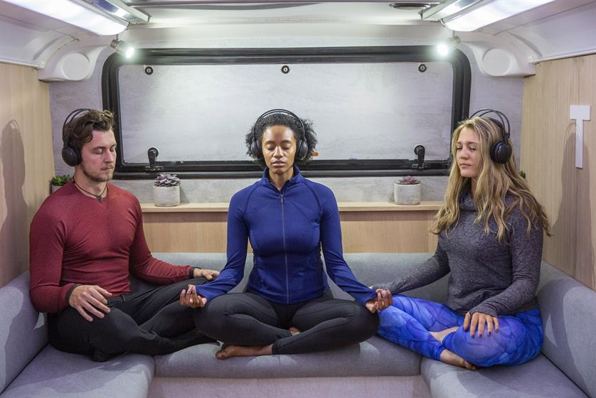 Lululemon Athletica: 'Om The Move' meditation bus