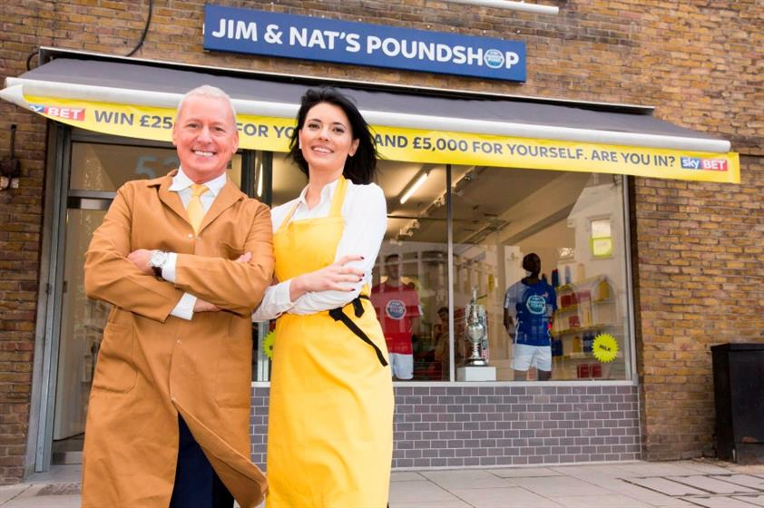 In pictures: Sky Bet launches pop-up pound shop