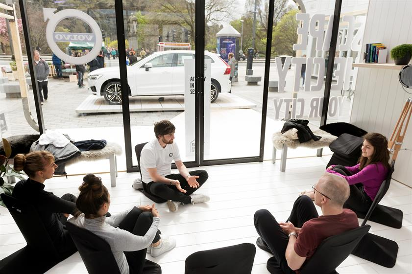 Volvo's 'Escape the City in your City' offered free yoga and meditation classes