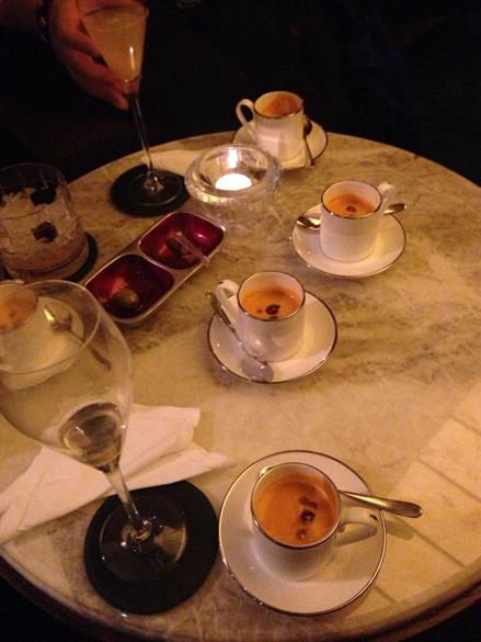 Pumpkin soup at Jumeirah hotel.