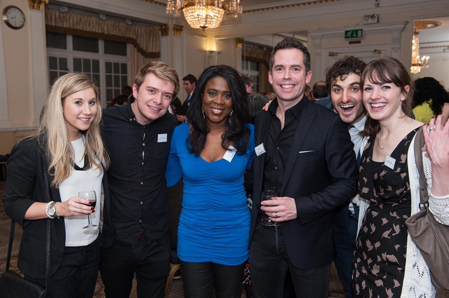 Tessa Sanderson and Sky Sports presenter David Jones with C&IT's Jack Carter and Alison Ledger