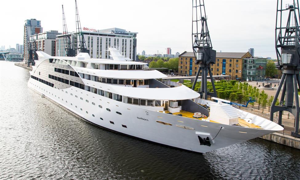 The Sunborn London super yacht hotel, located near London ExCel