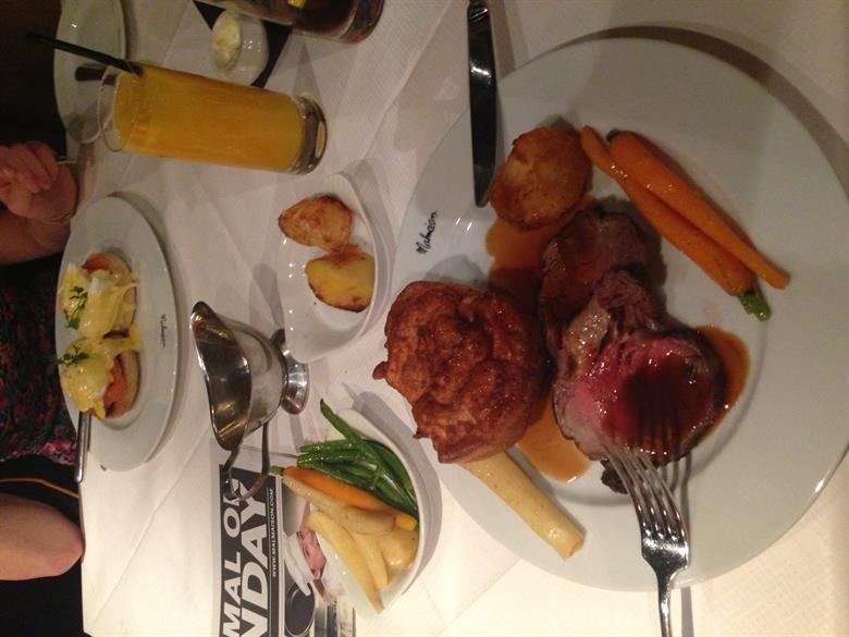 Malmaison's roast dinner