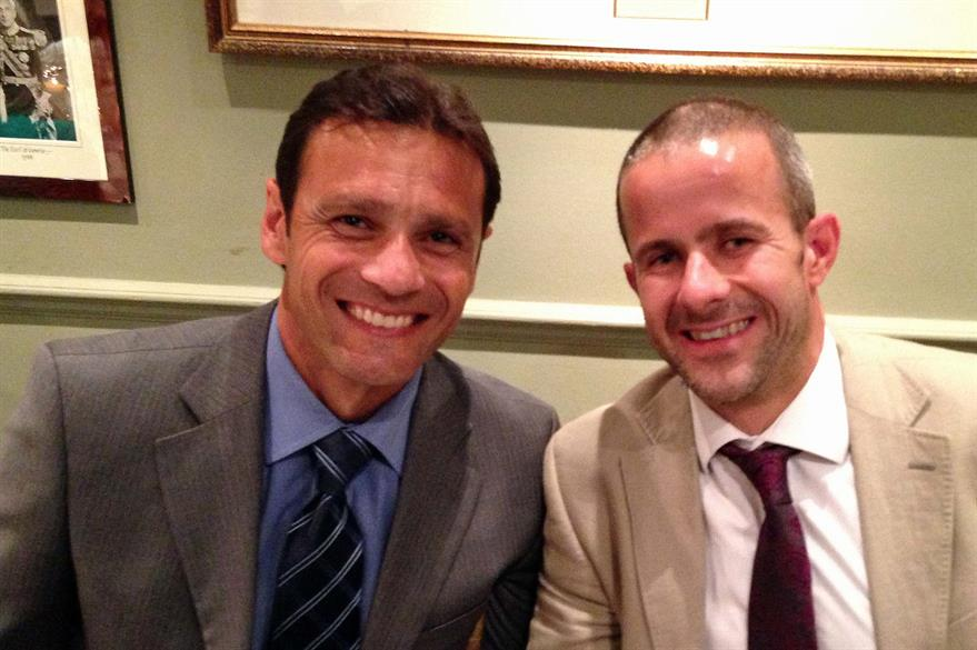 C&IT's Rob McKinlay with former England international cricketer and Strictly winner Mark Ramprakash at Lord's Ashes dinner