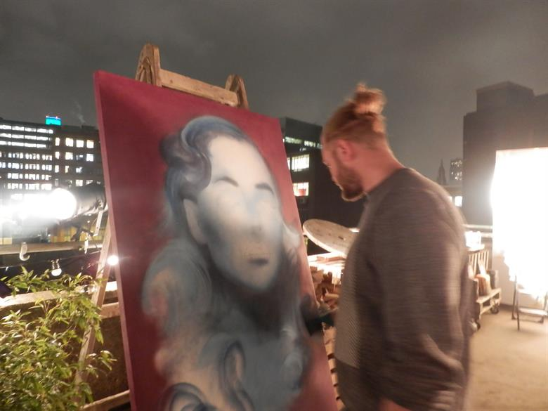 End of the Line street art being showcased at Rockwell House at  DRP Group's Winter Party