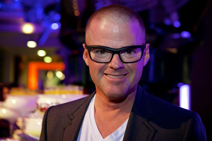 Chef Heston Blumenthal, who works with Rhubarb, surprised guests at the Science Museum