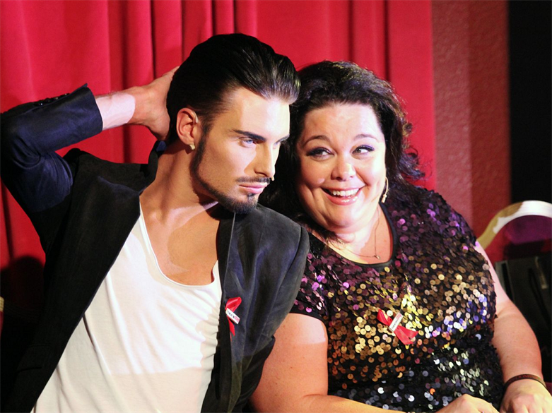 Lisa Riley and Rylan Clark at the HBAA fundraiser.
