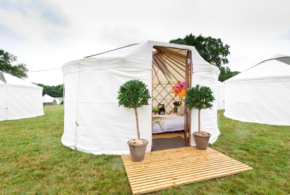 So posh it yurts.