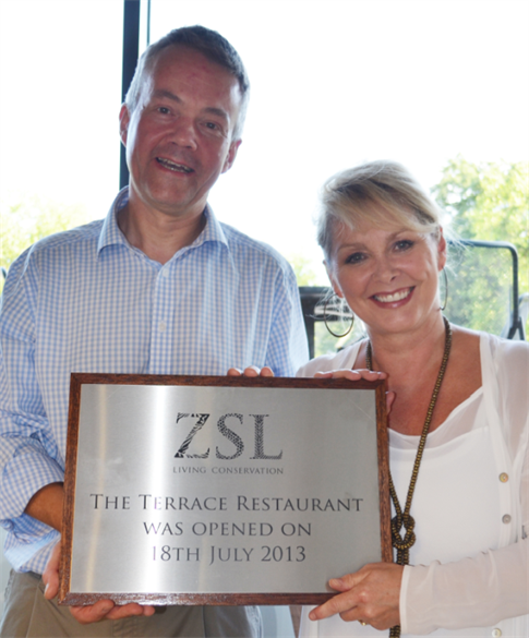 ZSL London Zoo opens new terrace with Cheryl Baker