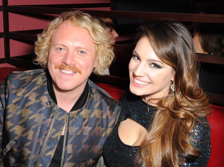 Keith Lemon and Kelly Brook at the launch of Steam & Rye in the City of London
