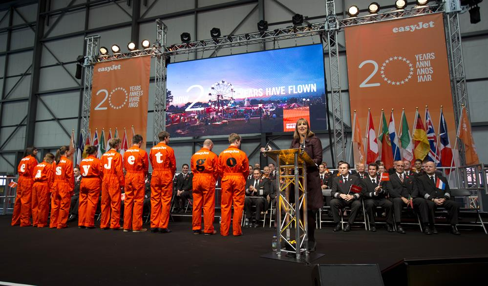 Easyjet's 20th anniversary celebrations