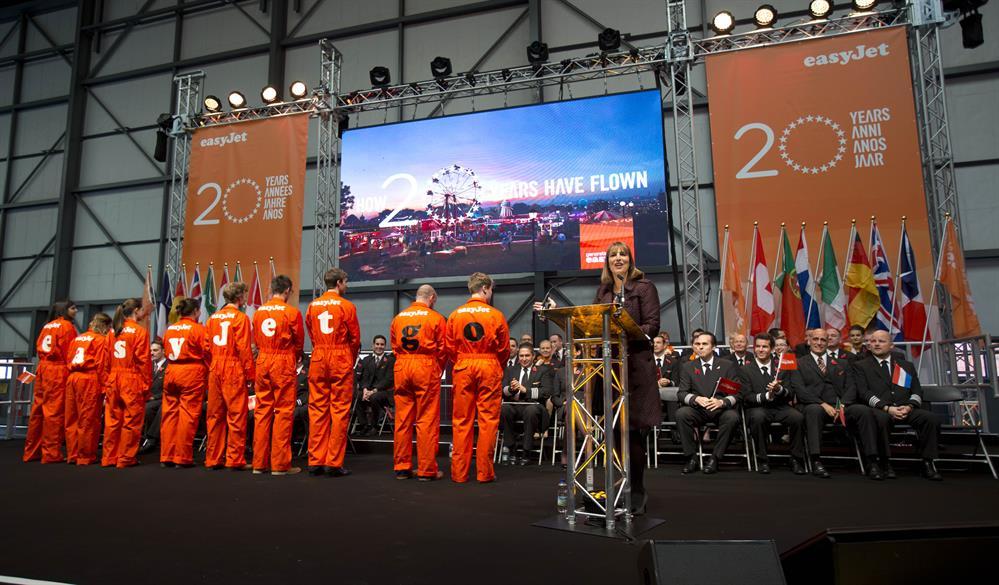 Easyjet's 20th anniversary celebrations
