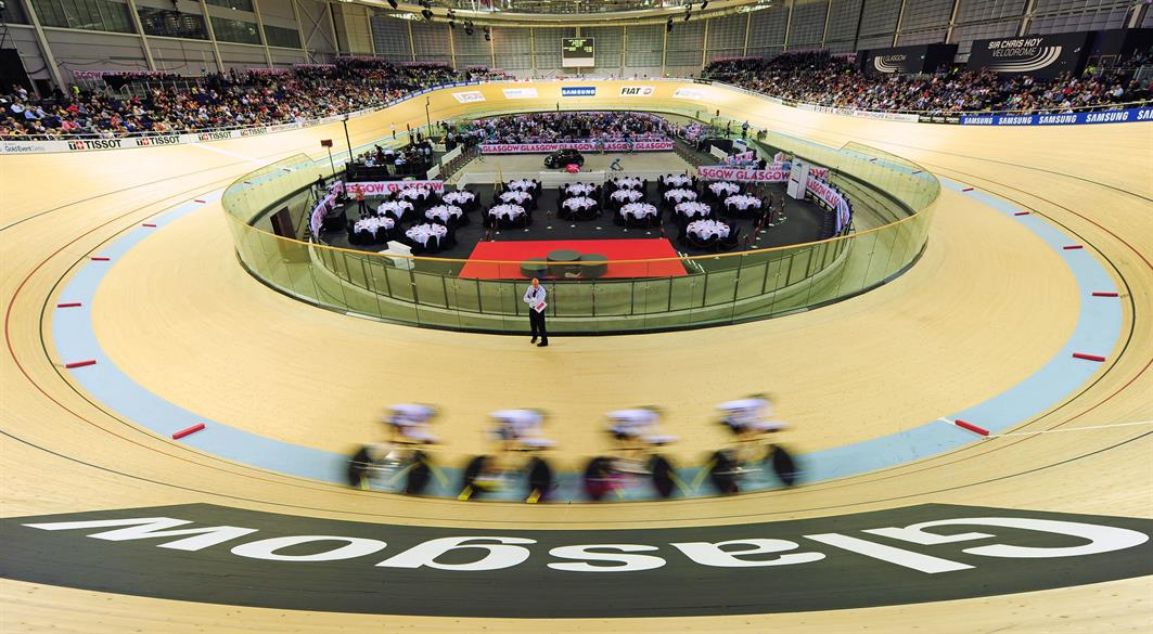 The Emirates Arena and adjoining Sir Chris Hoy Velodrome in the East End of Glasgow will host the cycling and badminton