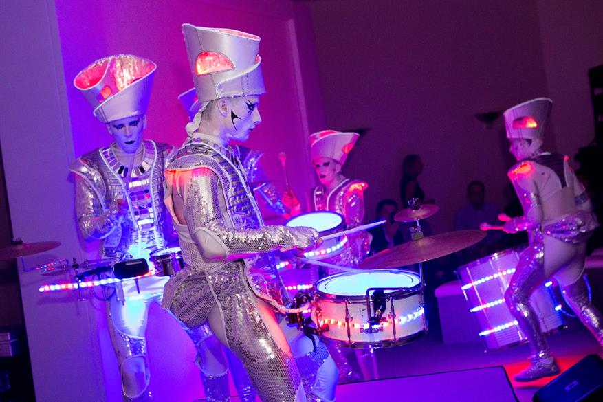 LED drummers provided by Spark!
