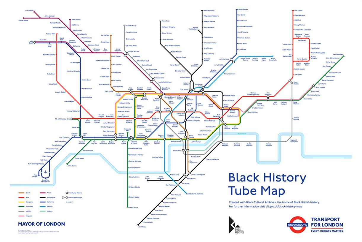 TfL and Black Cultural Archives create first black history Tube map