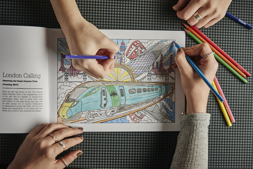 Passengers Handed Adult Colouring Books By Great Western Railway