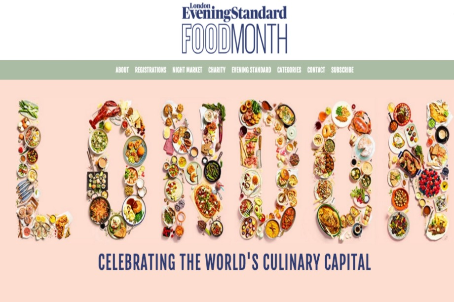 London's Evening Standard announces food month